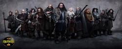 Thorin, Balin, Dwalin, Bifur, Bofur, Bombur, Fili, Kili, Oin, Gloin, Ori, Nori, Dori (não necessariamente nesta ordem)