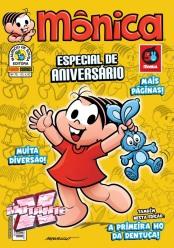 Exclusivo: capa da edição 75 da revista Mônica, com detalhes em dourado metálico