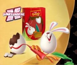 Ovos cobertos de açúcar para decorar