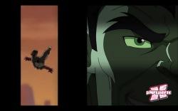 Animação imita estilo de histórias em quadrinhos, como feito no filme Hulk (2003)