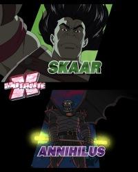 Nomes dos personagens em imagem congelada. Já vi isso em outro desenho...