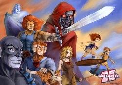 Espada contra espada: ThunderCats ultrapassam She-Ra e ficam em segundo lugar.