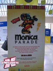 Banner anuncia o evento no Shopping Eldorado (SP)