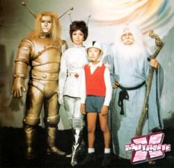 Os heróis da série: Goldar, Silvar, Gam e Matuzen