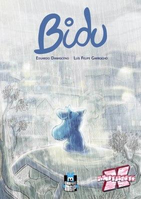 Com ar melancólico, Bidu chega com texto de Eduardo Damasceno e arte de Luís Felipe Garrocho.