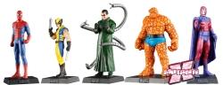 Miniaturas Marvel já estão há um ano nas bancas.