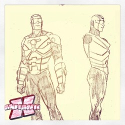 Esboços para o uniforme do herói na edição 2
