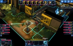 Os heróis se movimentam dentro do cenário, escolhendo o melhor ângulo para ataque.