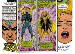 Águia Estelar e sua esposa Aleta dividem o mesmo corpo