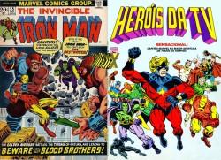 Drax estreou na revista do Homem de Ferro, inédita no Brasil. Aqui, ele foi visto pela primeira vez numa história do Capitão Marvel.