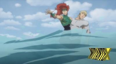 Mera tem um papel fundamental na história: ela é responsável por proteger Arthur.