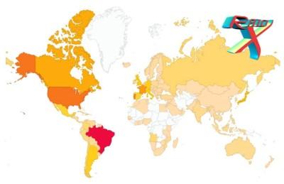 Os quatro cantos do mundo nos visitaram nestes cinco anos.