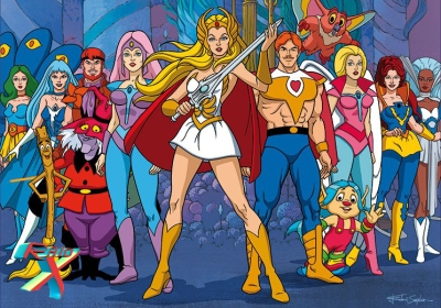 She-Ra e seus amigos da Grande Rebelião