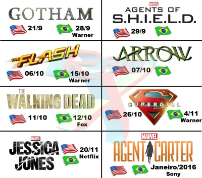 Anote na agenda as datas de estreia das séries baseadas em HQs