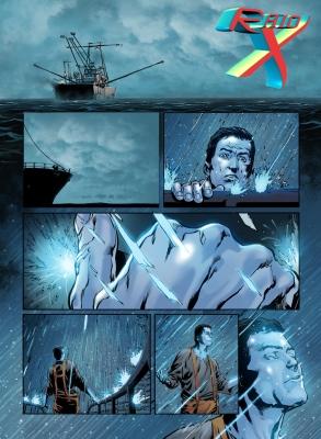 Rafael é banhado pelas luzes de uma aurora boreal e ganha poderes.