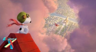 Em sua fértil imaginação, Snoopy persegue o temível Barão Vermelho até Paris.