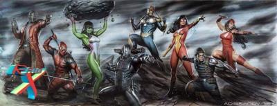 Lombada com ilustração de Adi Granov ganha novos heróis