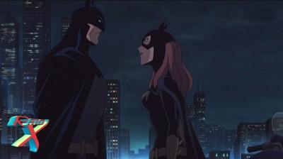 Batgirl peitando Batman pra mostrar quem é que manda.