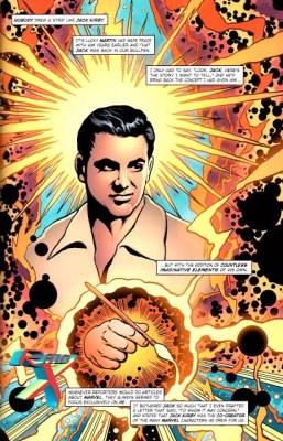 Desentendimentos com Jack Kirby foram amenizados no texto.