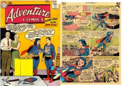 Superboy em versão cross-dresser. Morra de inveja, Laerte!