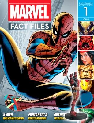 Marvel Fact Files - coleção britânica vinha com miniatura.