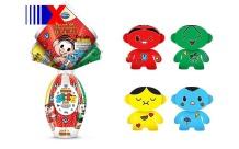 A sempre fofa Turma da Mônica da Arcor traz toy arts dos personagens.