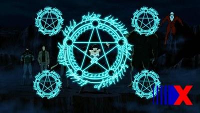 Zatanna teve que fazer mágica pra se destacar nesse desenho.